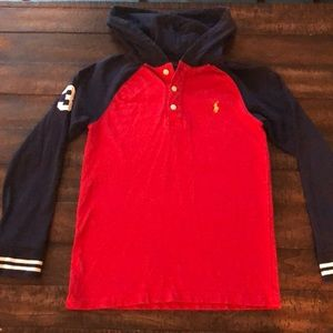 Polo Ralph Lauren Hoodie Boys Red Blue 10-12
